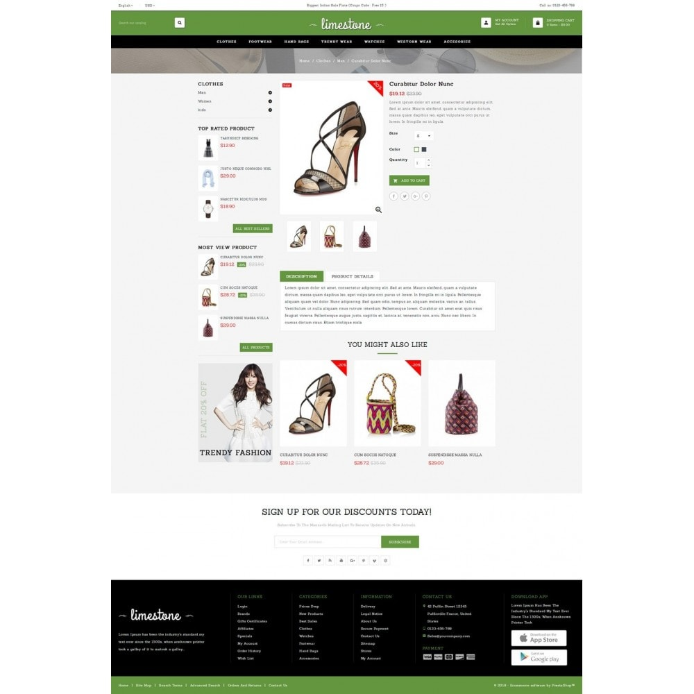 theme - Mode & Schoenen - Limestone - Fashion Design Store - 4