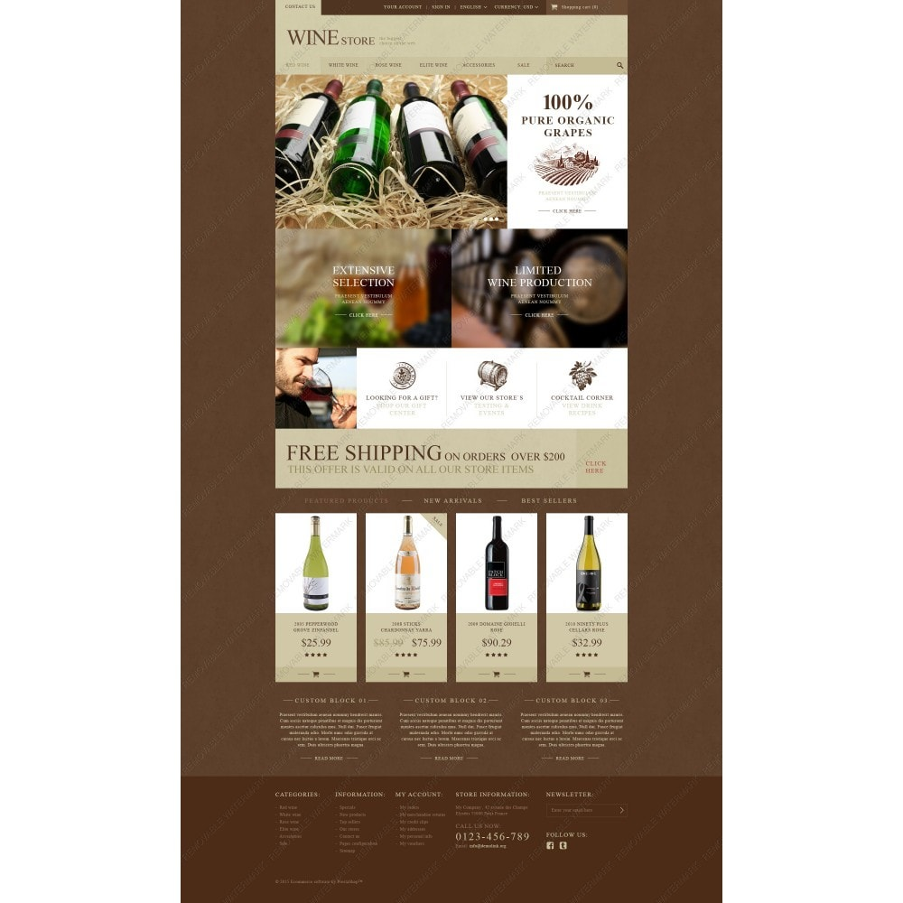 theme - Eten & Restaurant - Wine Store - 3