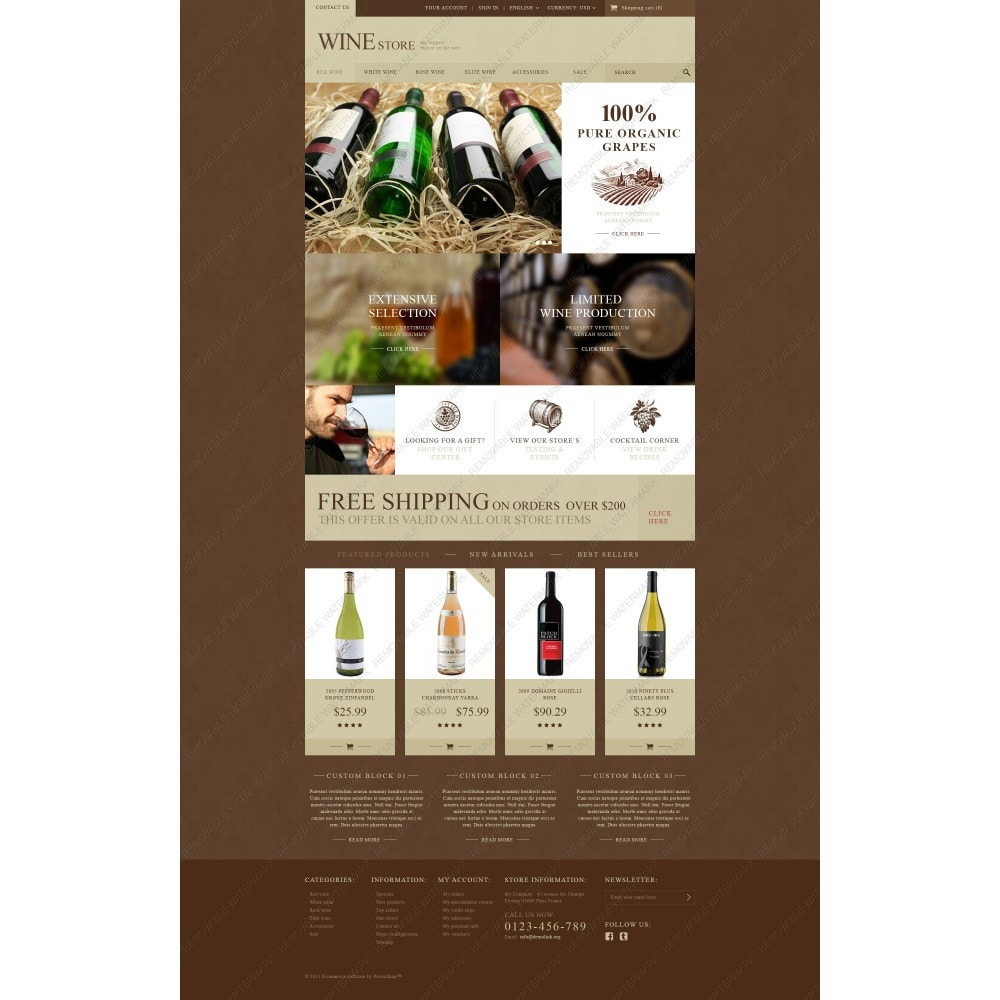 theme - Eten & Restaurant - Wine Store - 5