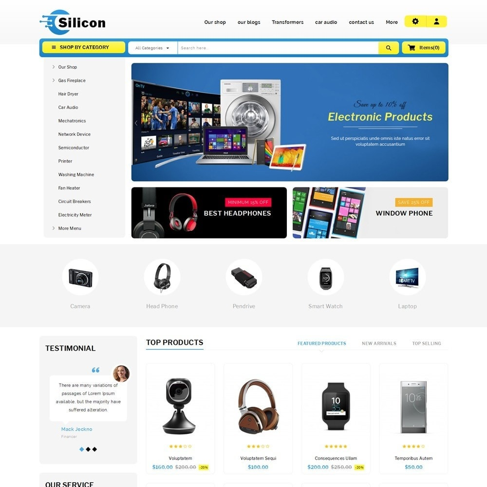 theme - Электроника и компьютеры - Silicon - The Electronic Store - 2