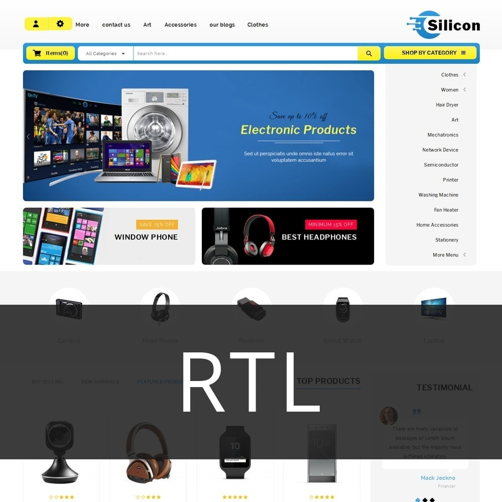 theme - Электроника и компьютеры - Silicon - The Electronic Store - 3