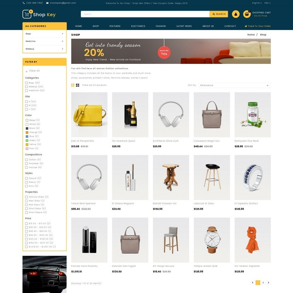 theme - Moda & Obuwie - Shop key Store - 3