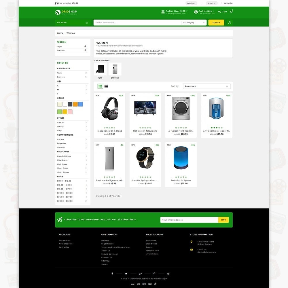 GridShop - The Large Ecommerce Store