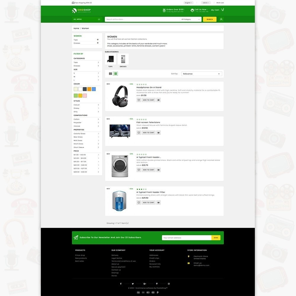 theme - Electronics & Computers - GridShop - The Large Ecommerce Store - 4