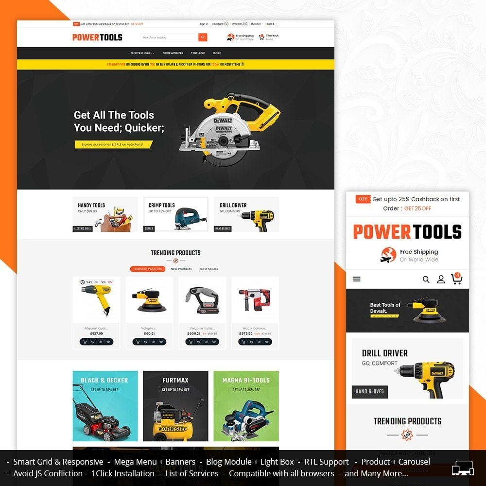 theme - Casa & Jardins - Power Tools Store - 1