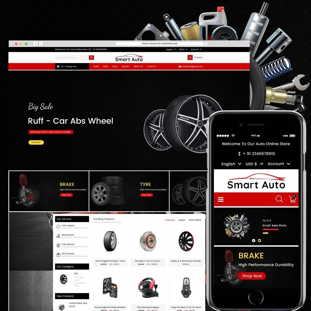 theme - Carros & Motos - Smart Auto - 1