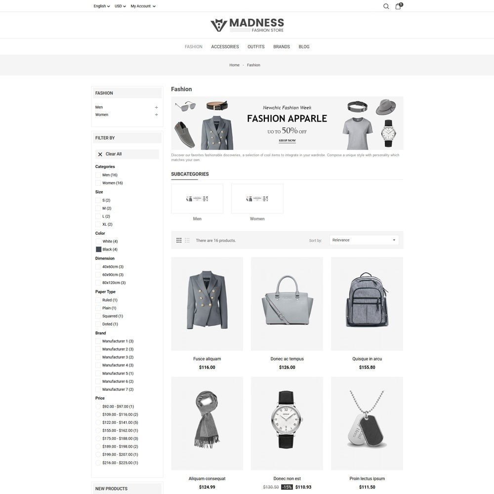 theme - Мода и обувь - Madness Fashion Store - 5
