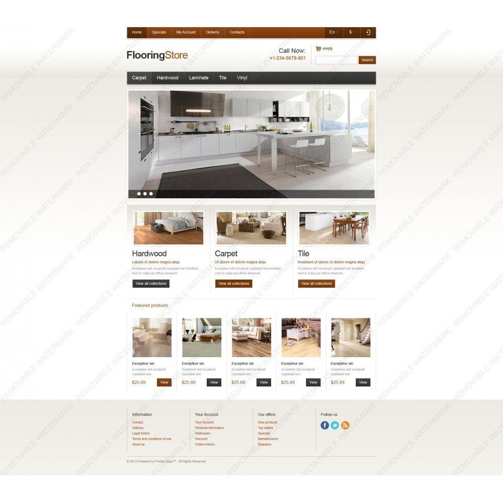 theme - Arte e Cultura - Responsive Flooring Store - 6