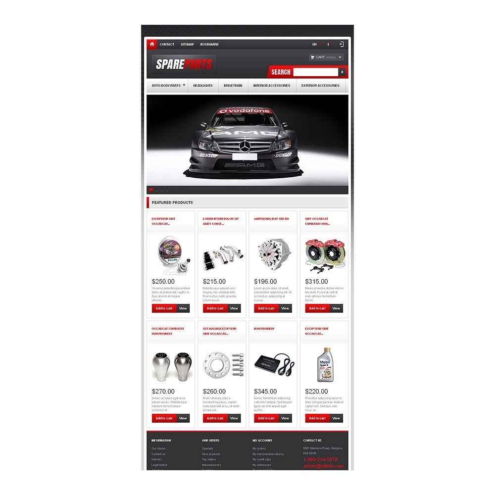 theme - Coches y Motos - Responsive Spare Parts Store - 8