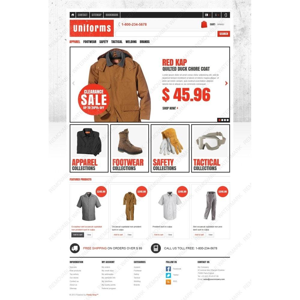Responsive Uniforms Store