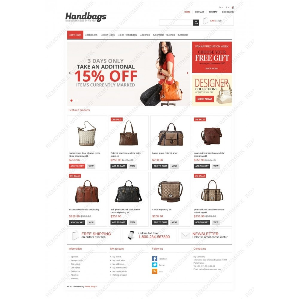 theme - Mode & Chaussures - Responsive Handbags Store - 3
