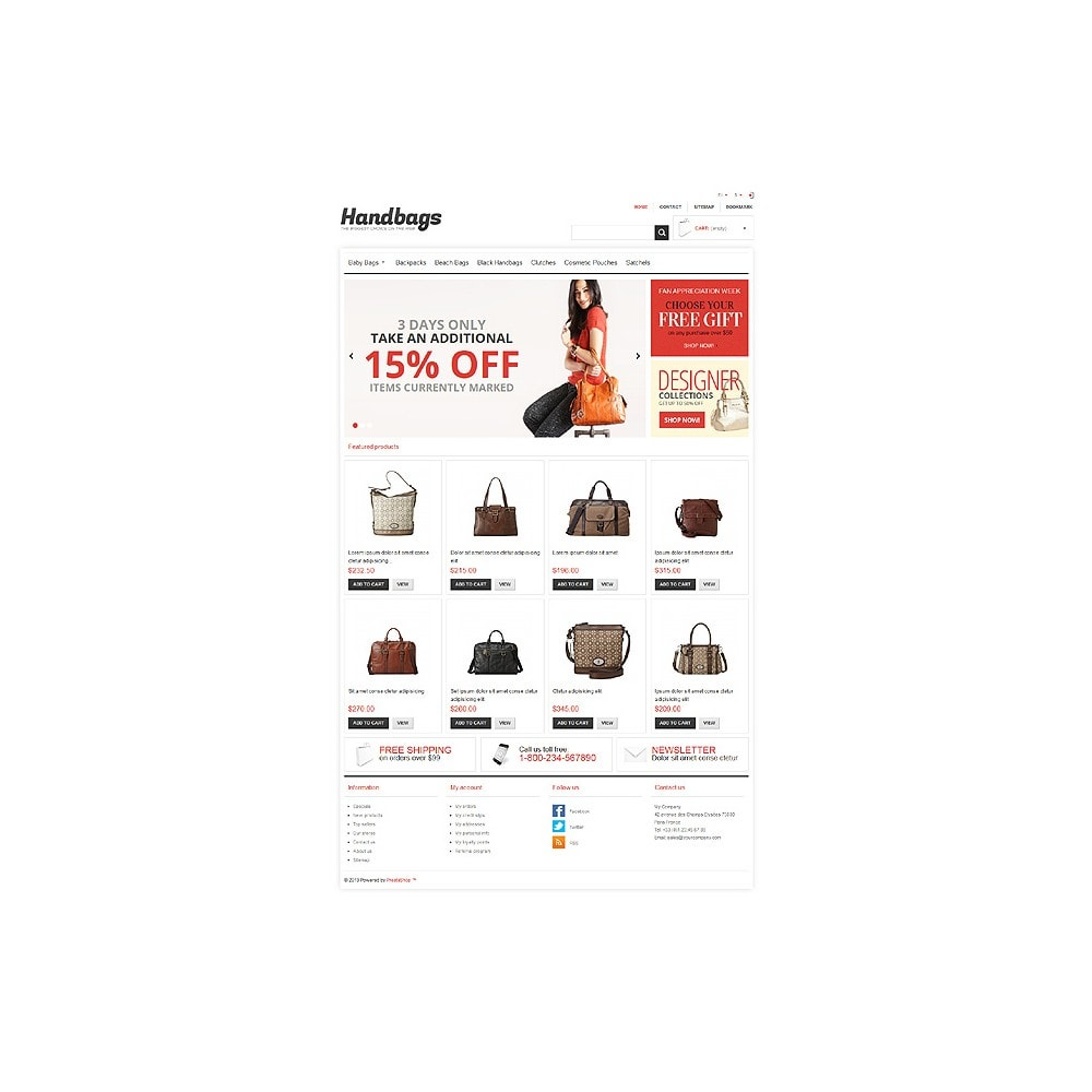 theme - Mode & Chaussures - Responsive Handbags Store - 11