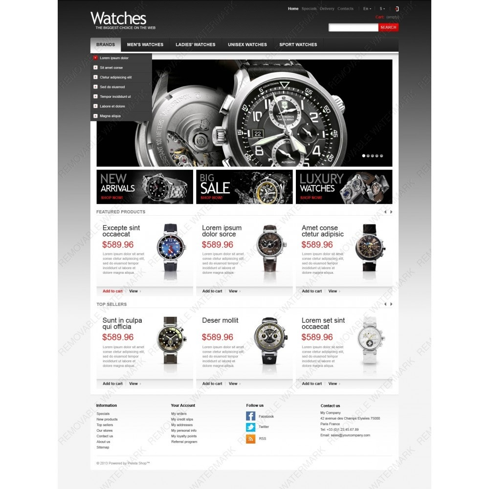 theme - Fashion & Shoes - Wrist Watch Store - 3
