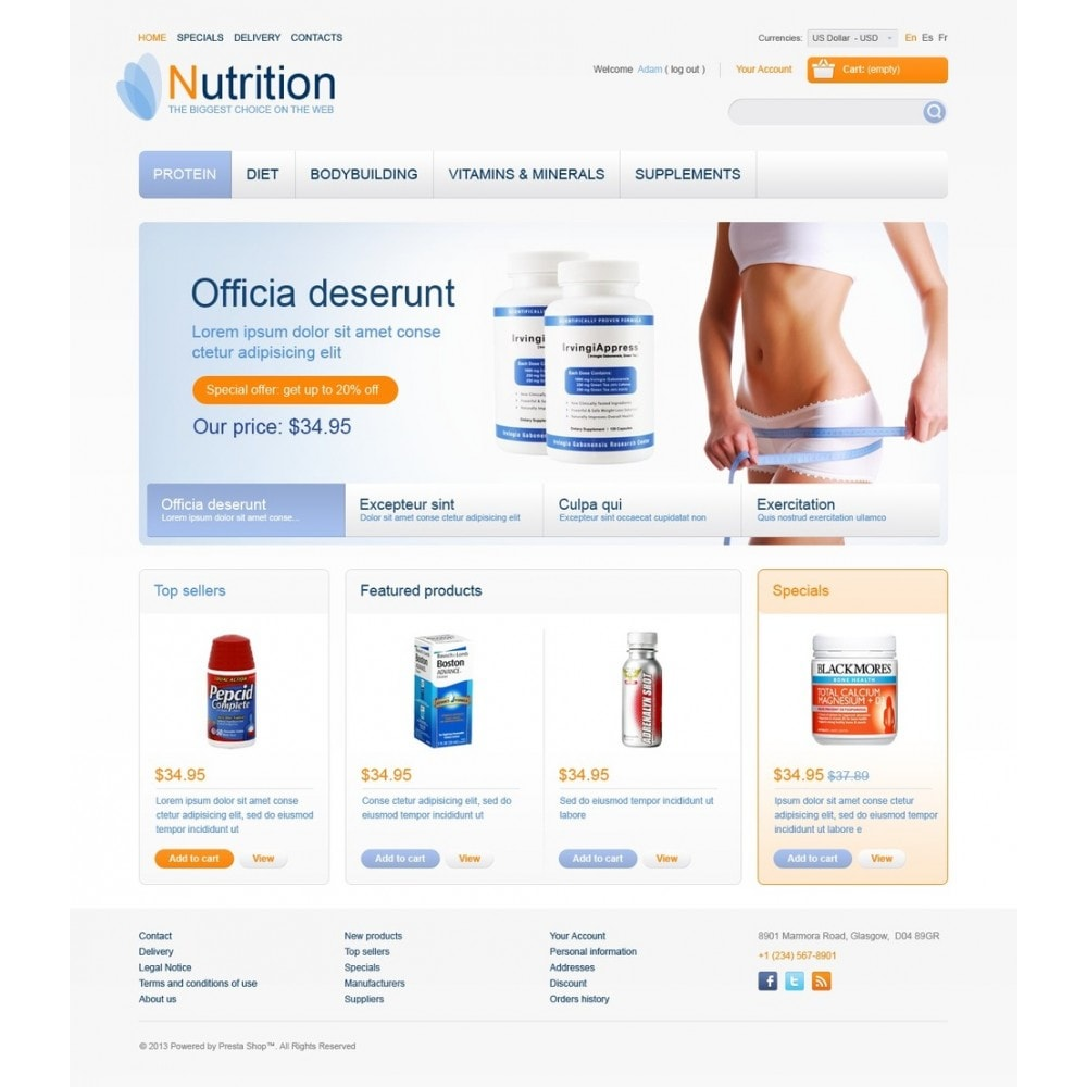 theme - Salute & Bellezza - Nutrition Store - 5