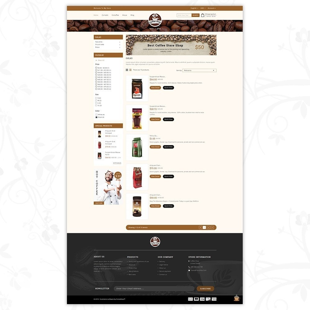 theme - Bebidas y Tabaco - Coffee Shop - 4