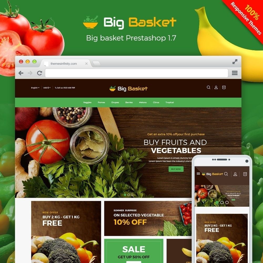 theme - Food & Restaurant - Bigbasket - Food Online Store - 1