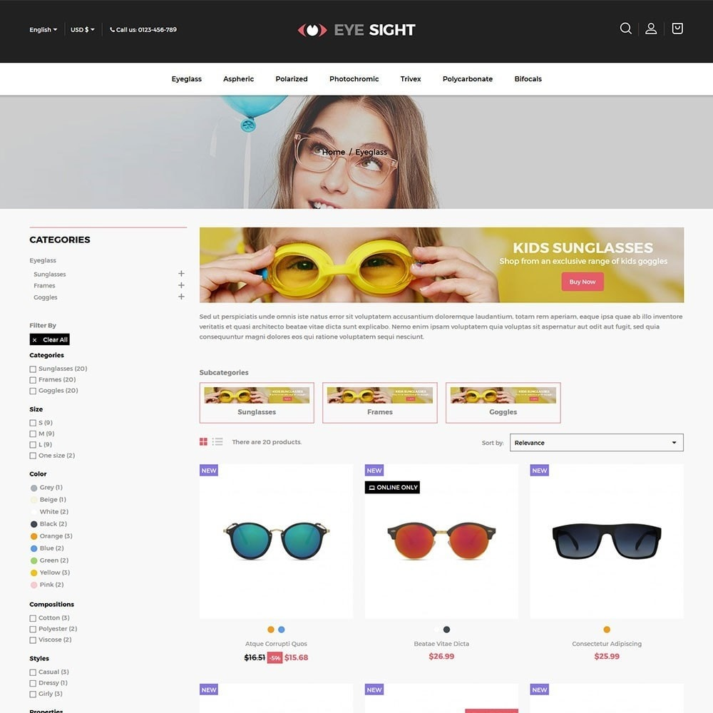 Eyesight - Glasses Online Store