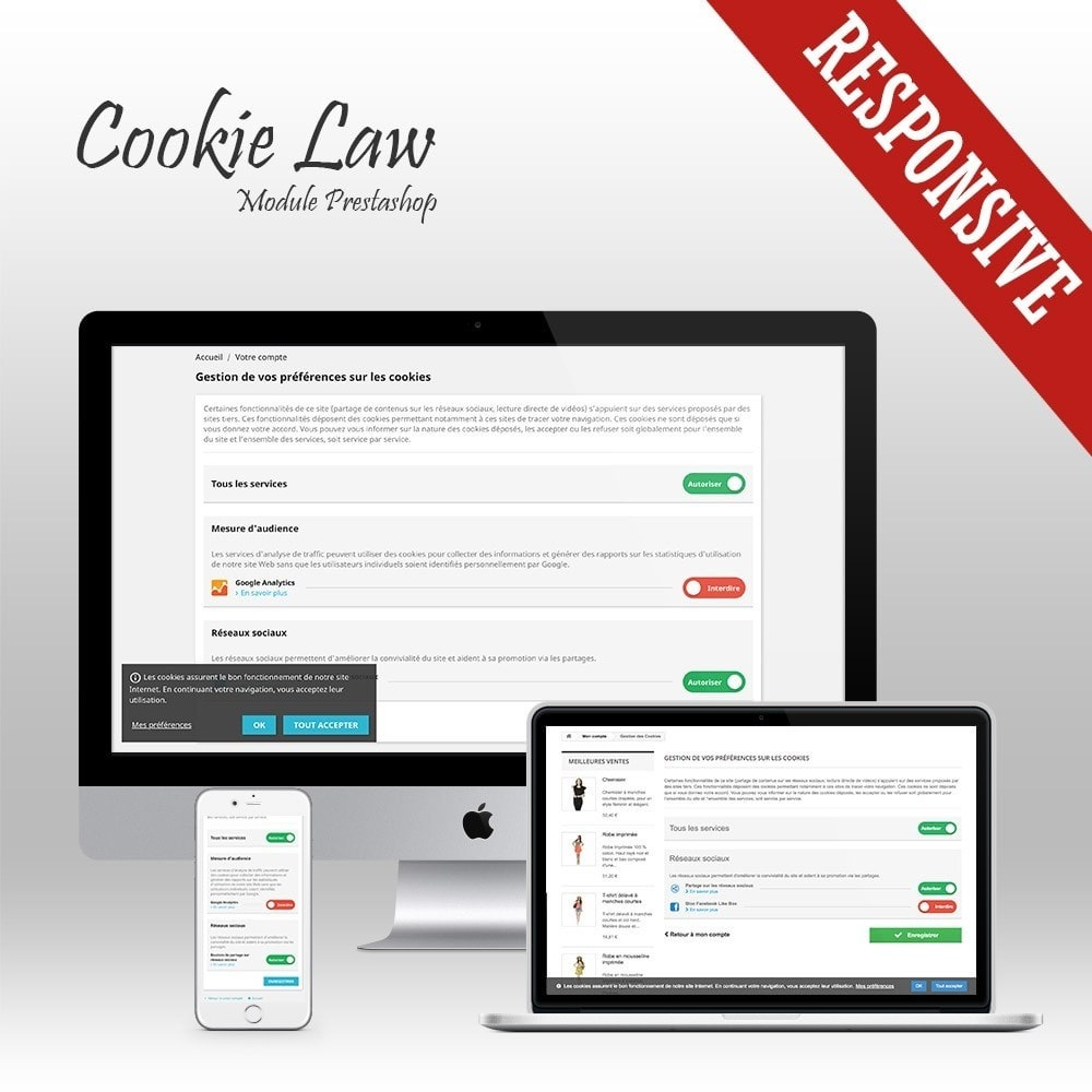 module - Jurídico - Cookie Law - Banner + Cookie blocker - 1