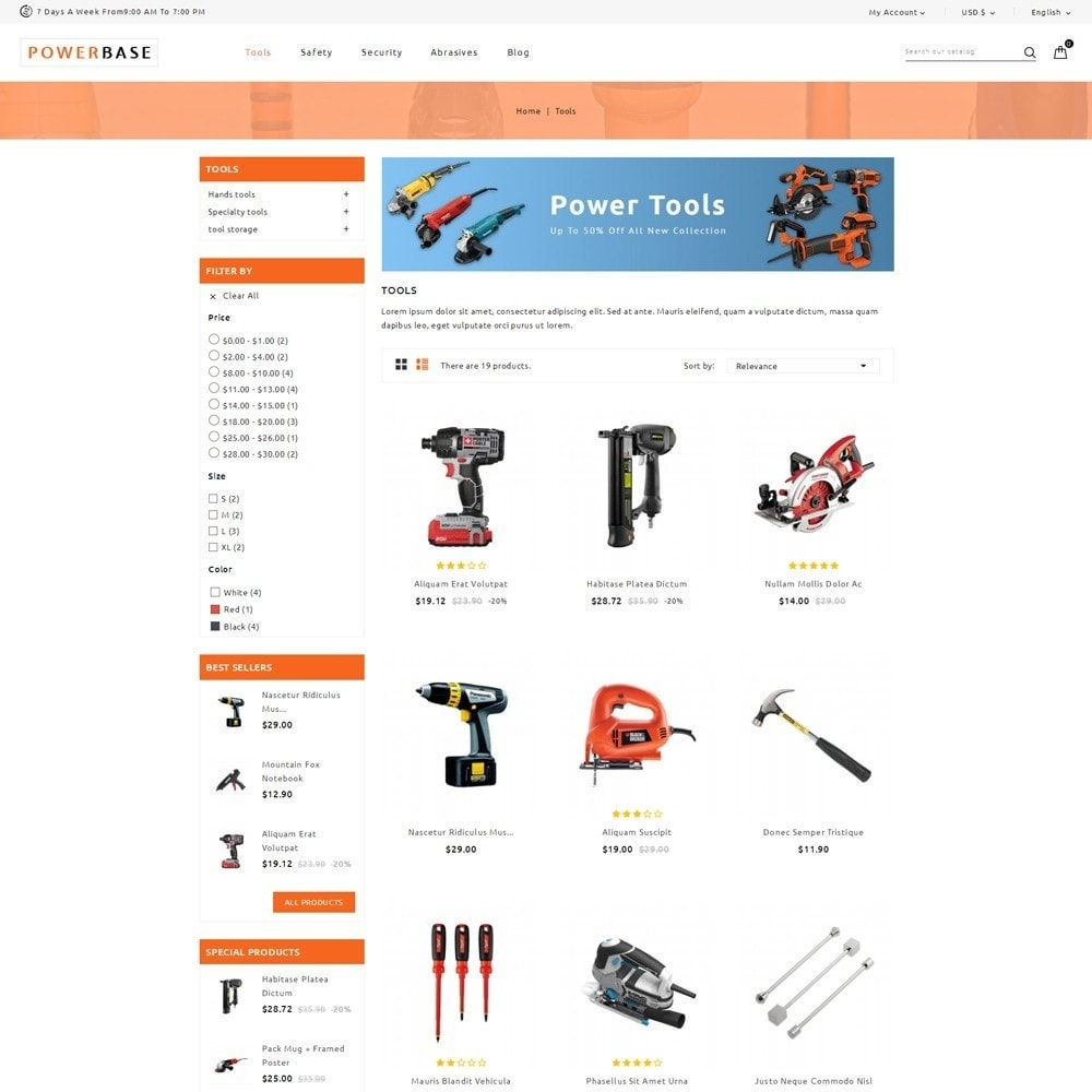 theme - Automotive & Cars - Powerbase Tool Store - 3