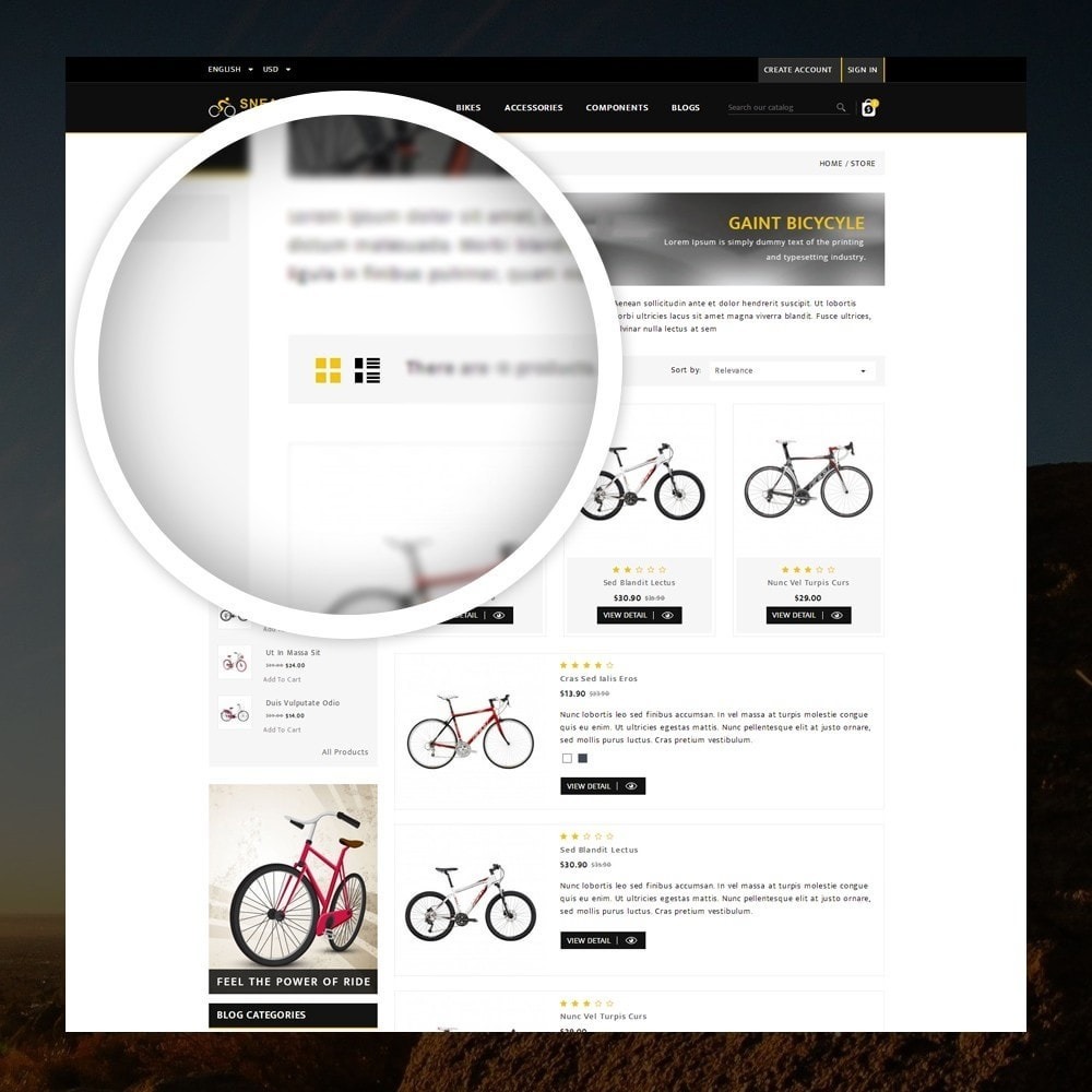 theme - Sports, Activities & Travel - Sneaps - The Bicycle Store - 3