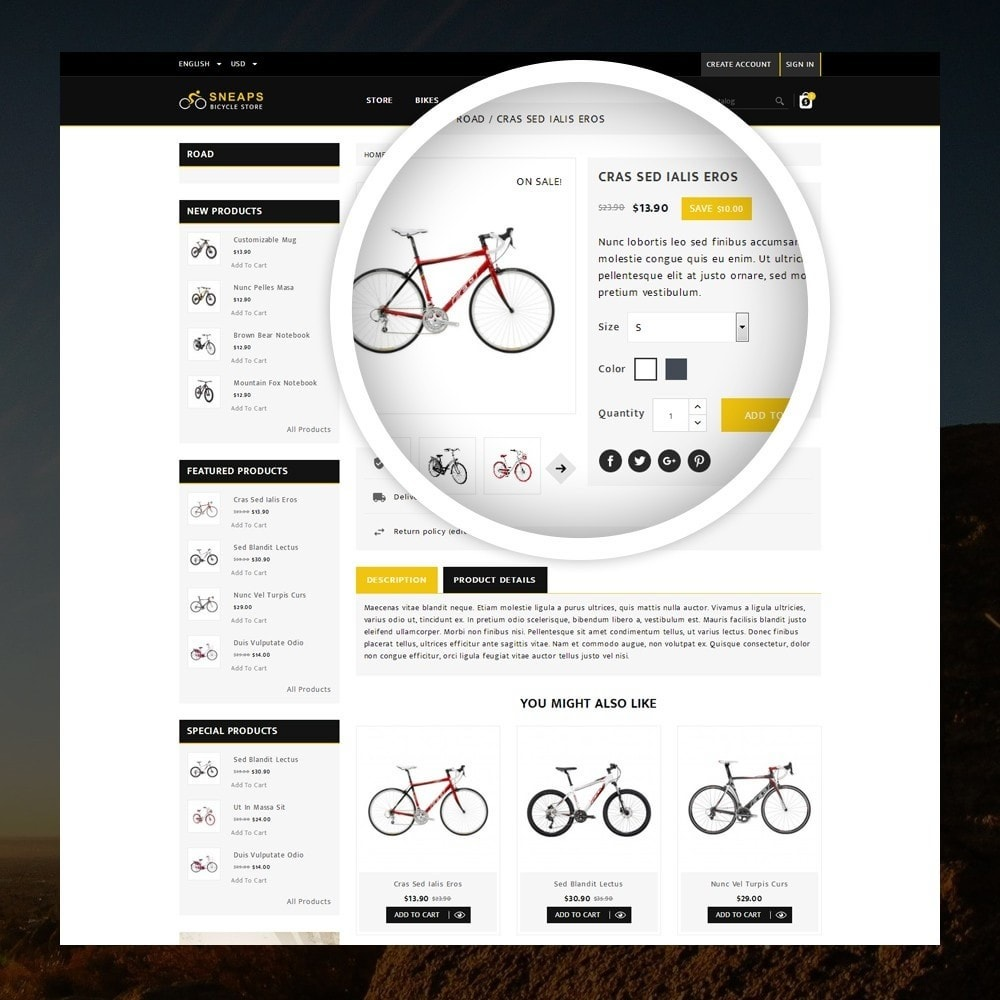 theme - Sport, Loisirs & Voyage - Sneaps - The Bicycle Store - 4
