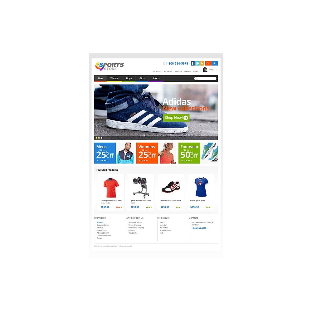 theme - Sport, Attività & Viaggi - Responsive Sports Store - 11