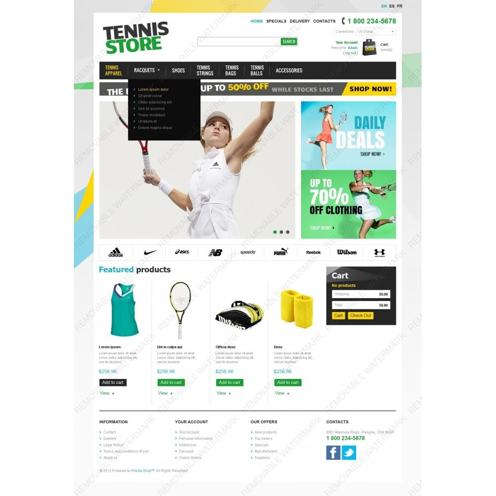 theme - Sports, Activities & Travel - Racquets And Tennis Stuff - 2