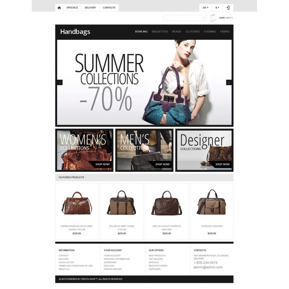 theme - Мода и обувь - Responsive Handbags Boutique - 5