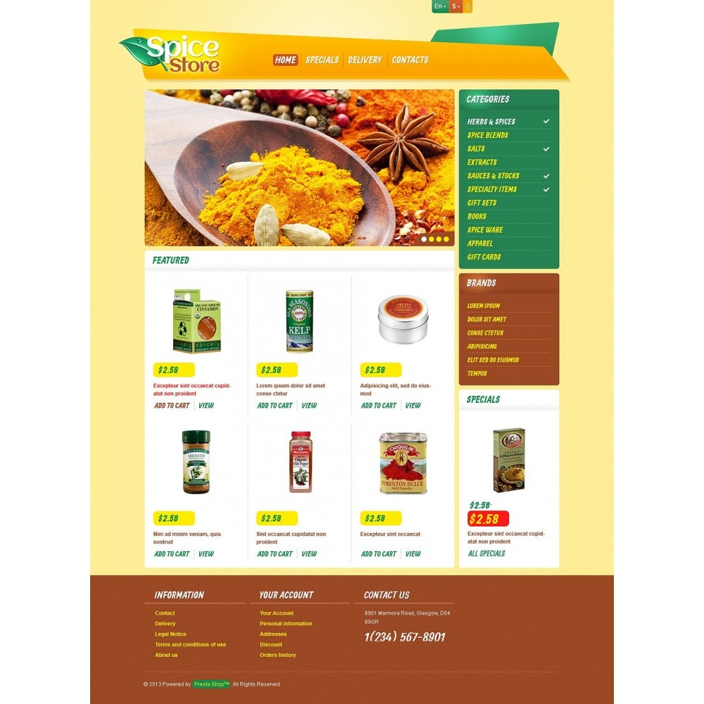 theme - Food & Restaurant - Responsive Spice Store - 5
