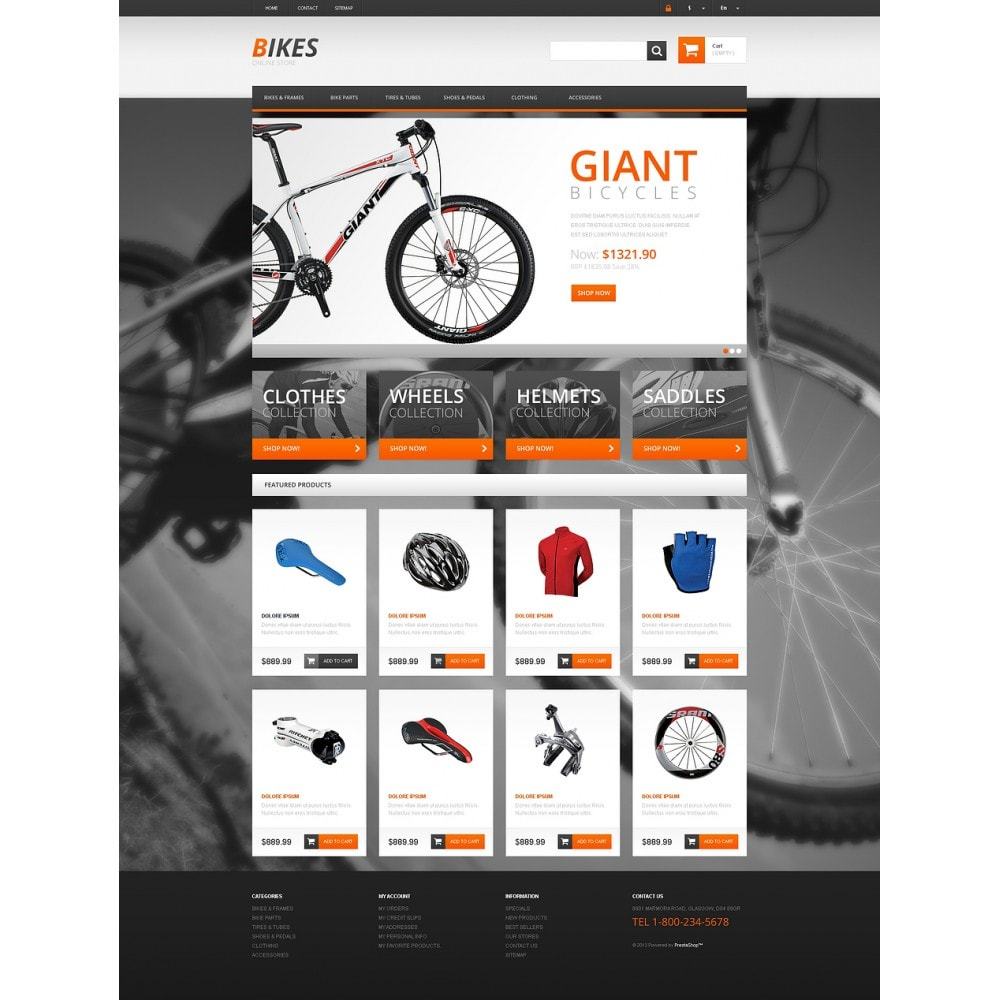 theme - Sports, Activities & Travel - Responsive Bikes Store - 2