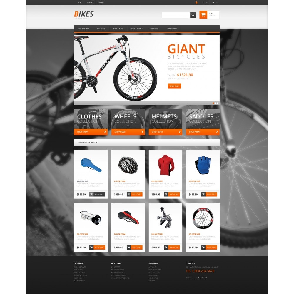 theme - Sports, Activities & Travel - Responsive Bikes Store - 4
