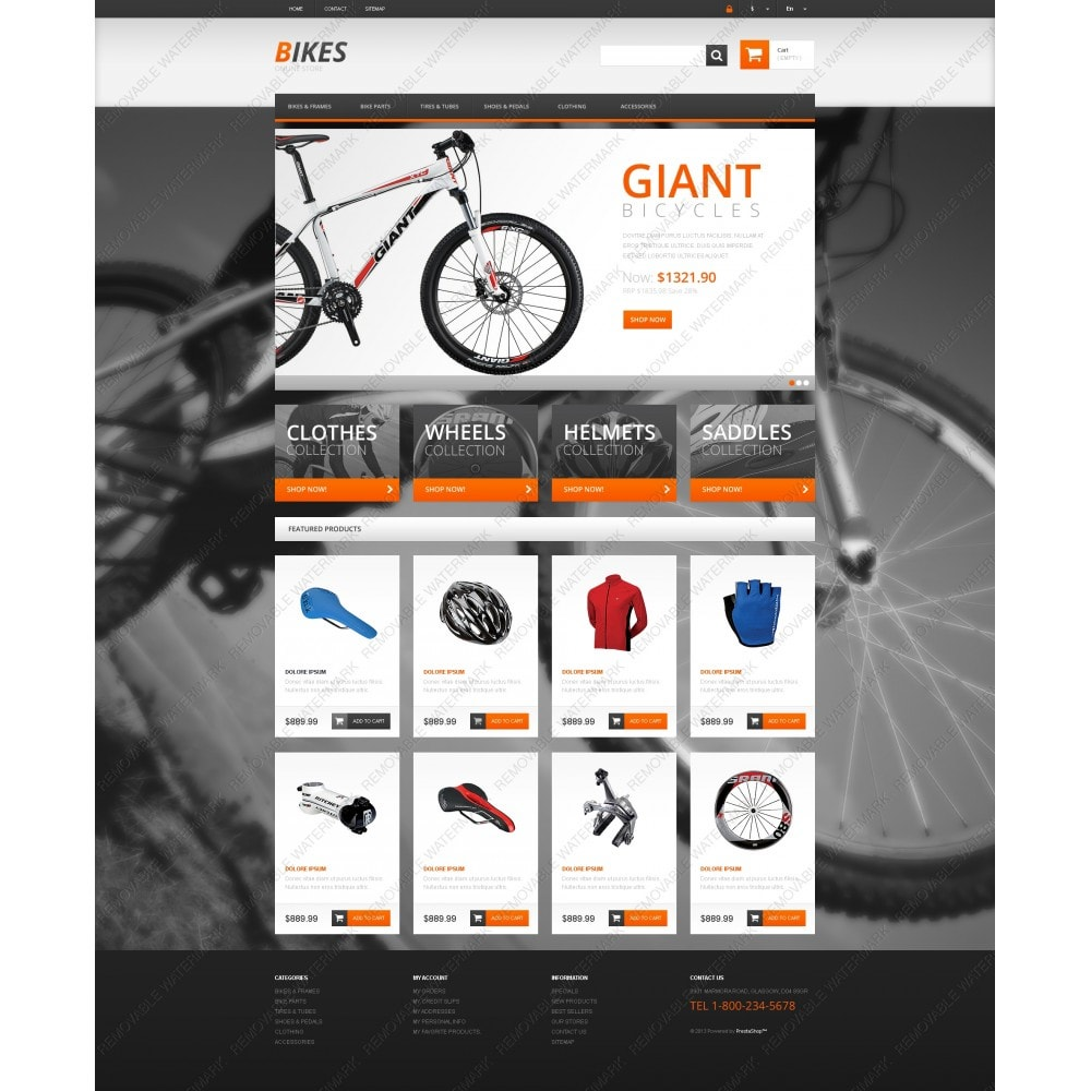 theme - Sports, Activities & Travel - Responsive Bikes Store - 5
