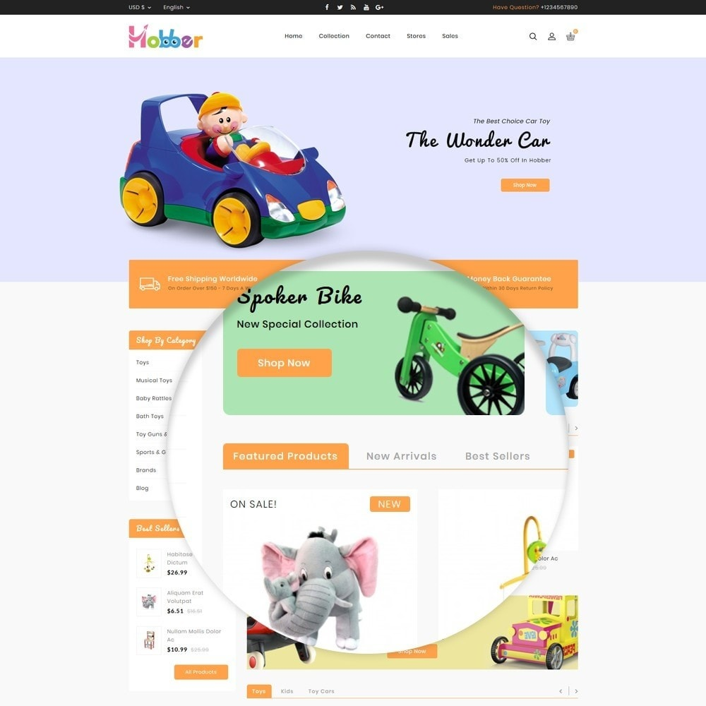 theme - Kids & Toys - Hobber Toy Store - 9