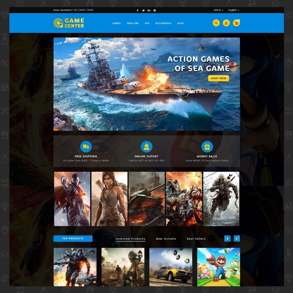 Game center Online Store