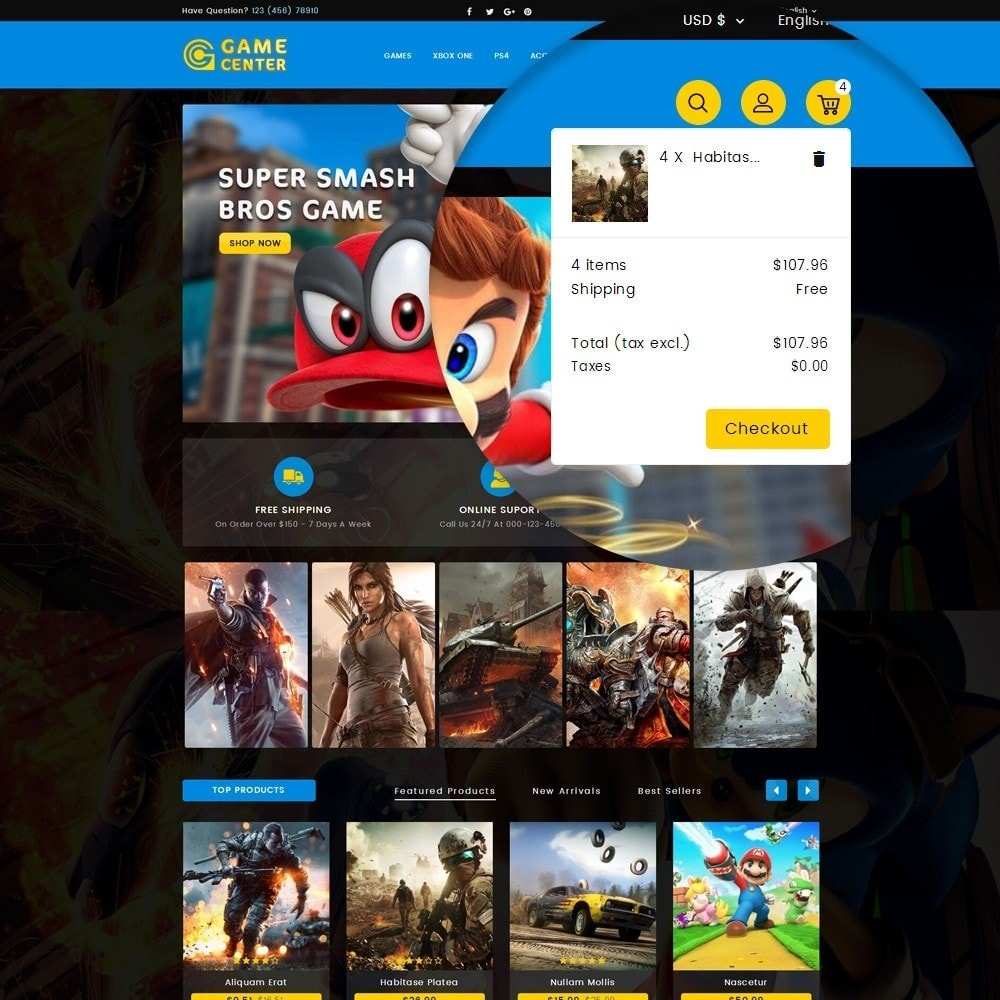 theme - Sport, Loisirs & Voyage - Game center Online Store - 7