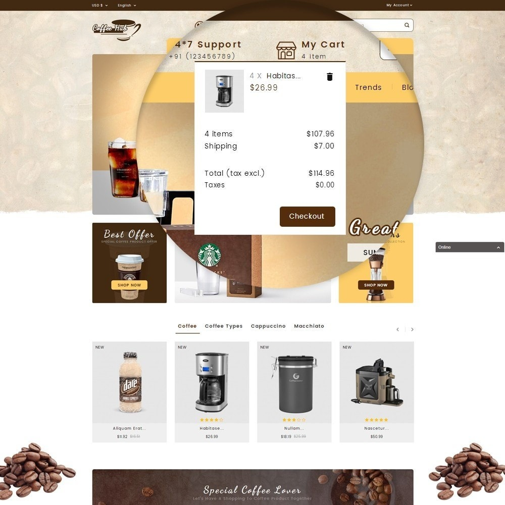 theme - Bebidas y Tabaco - Coffeehub Online Store - 10