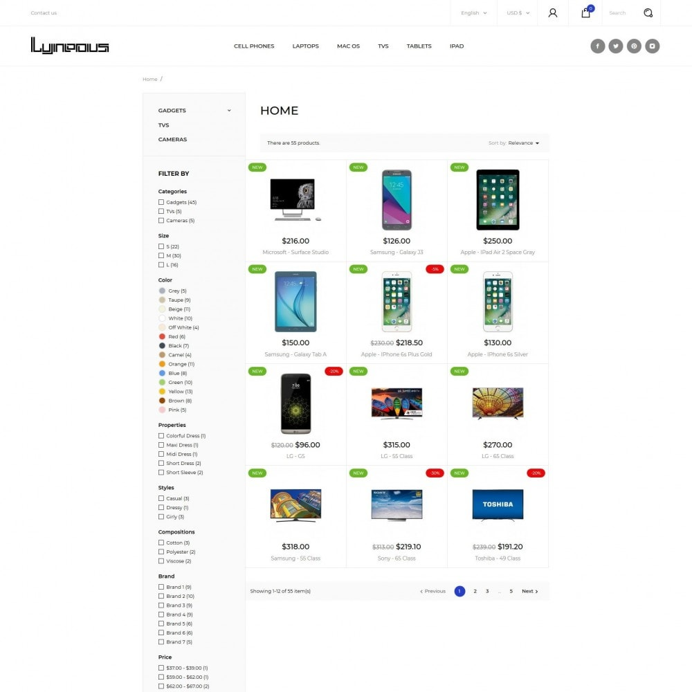 theme - Electrónica e High Tech - Lyneous - High-tech Shop - 5