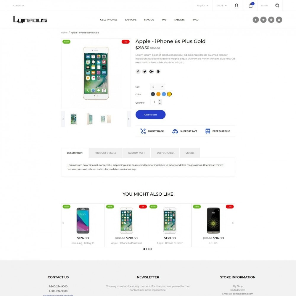 theme - Electrónica e High Tech - Lyneous - High-tech Shop - 8