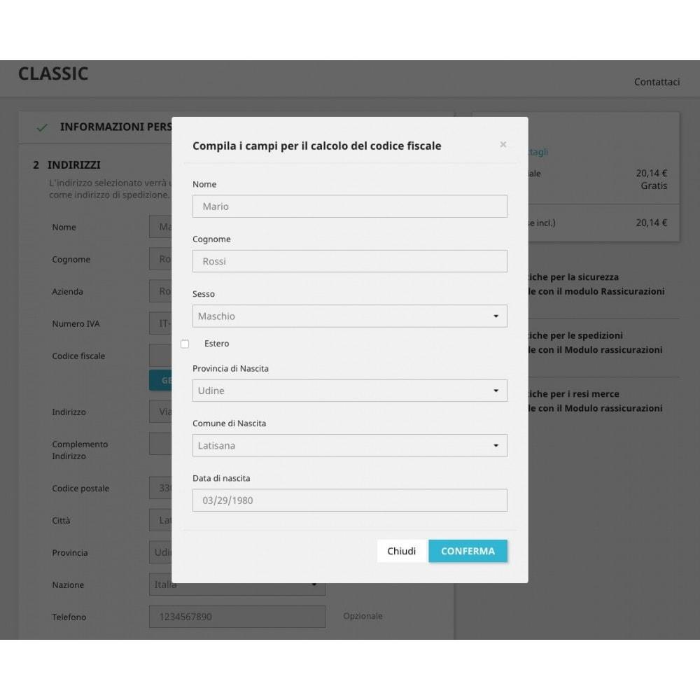 module - Contabilità & Fatturazione - Generatore Codice Fiscale su Checkout e Registrazione - 3
