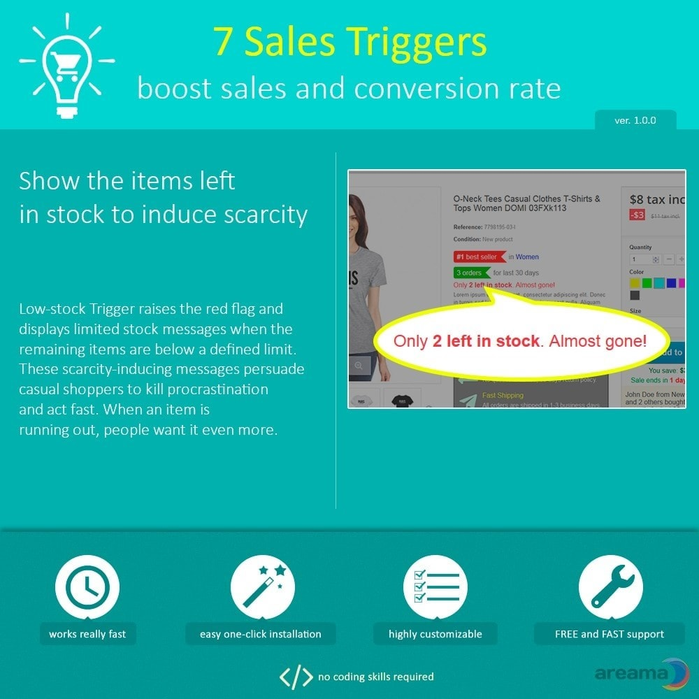 module - Informaciones adicionales y Pestañas - 7 Sales Triggers - boost sales and conversion rate - 4