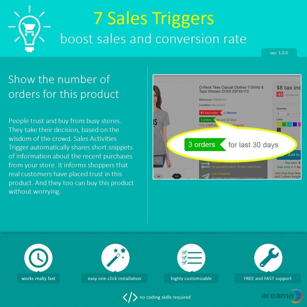 module - Informaciones adicionales y Pestañas - 7 Sales Triggers - boost sales and conversion rate - 6