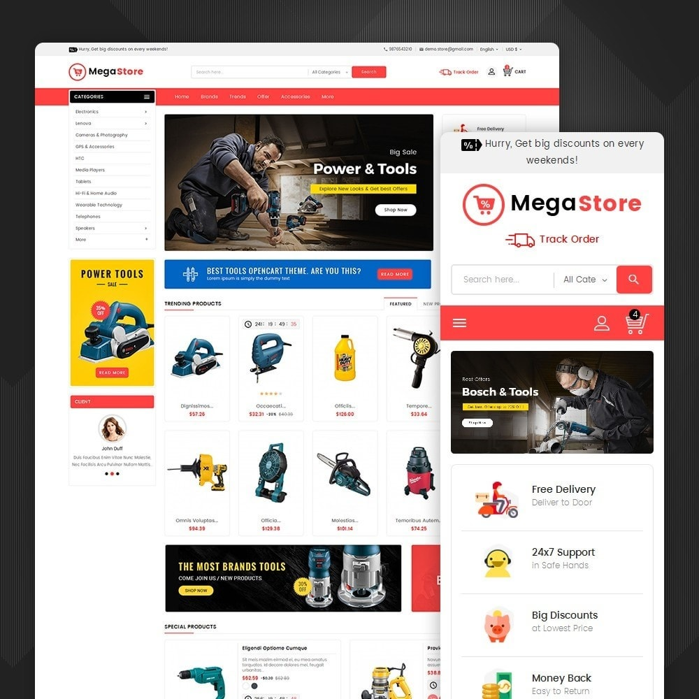 theme - Elektronica & High Tech - Mega Power Tools Store - 1