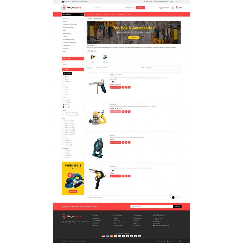 theme - Elektronica & High Tech - Mega Power Tools Store - 4
