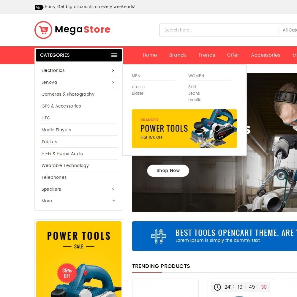 theme - Elektronika & High Tech - Mega Power Tools Store - 8