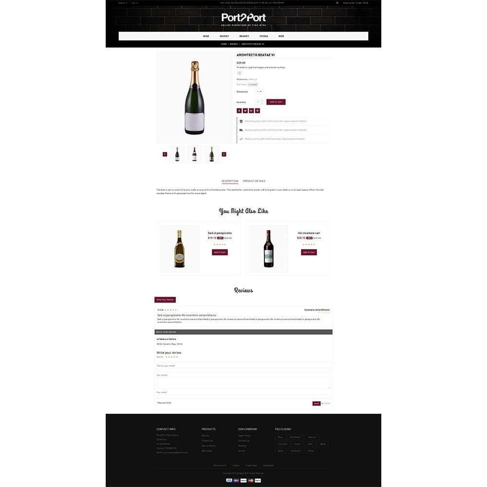 theme - Drink & Wine - Port2Port Store - 5