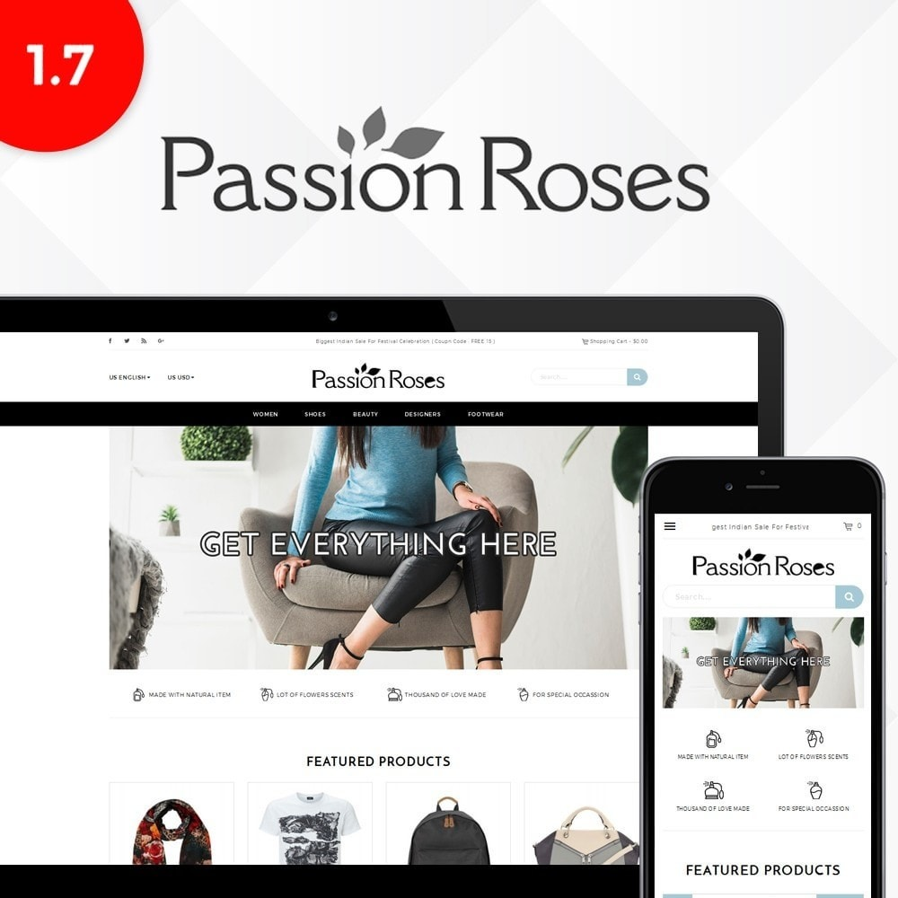 theme - Mode & Schoenen - Passion Roses Fashion Store - 1