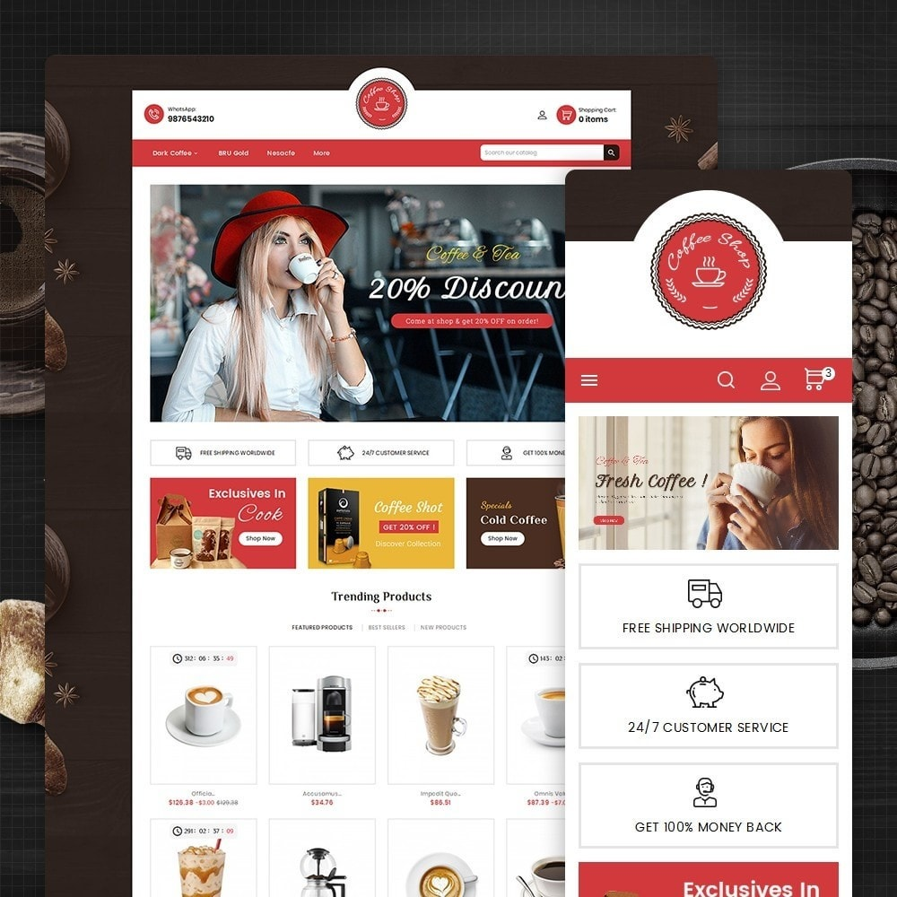 theme - Food & Restaurant - Coffee Cafe Shop - 1