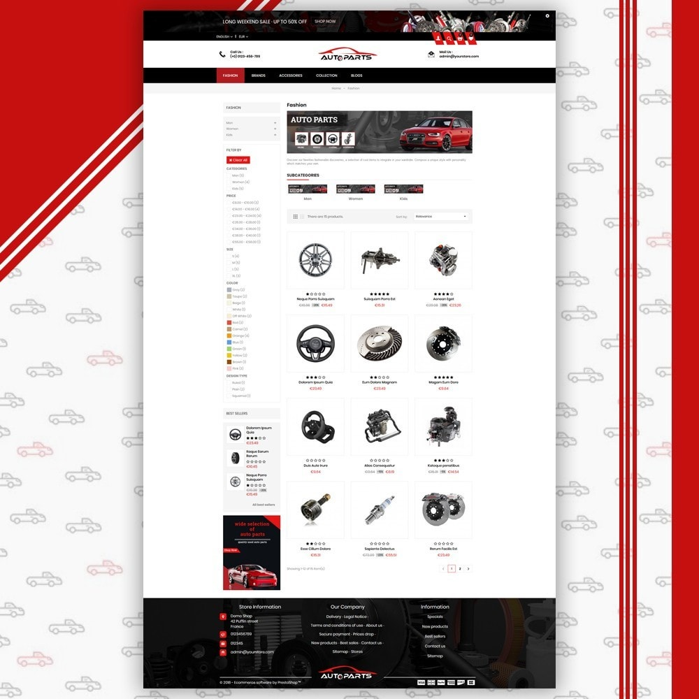 theme - Coches y Motos - Auto Parts Shop - 3
