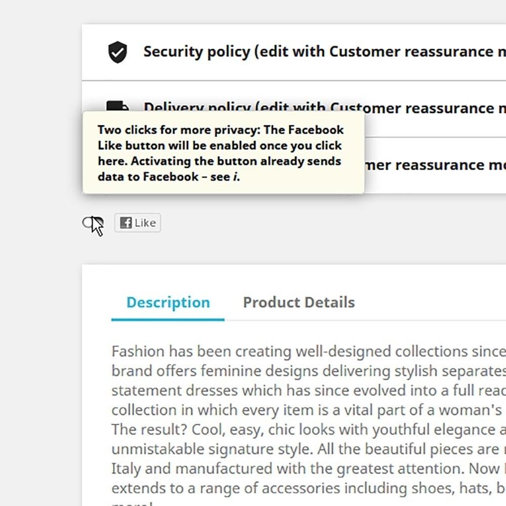 module - Przyciski udostępniania & Komentarze - GDPR Protect Social Share Privacy - 2