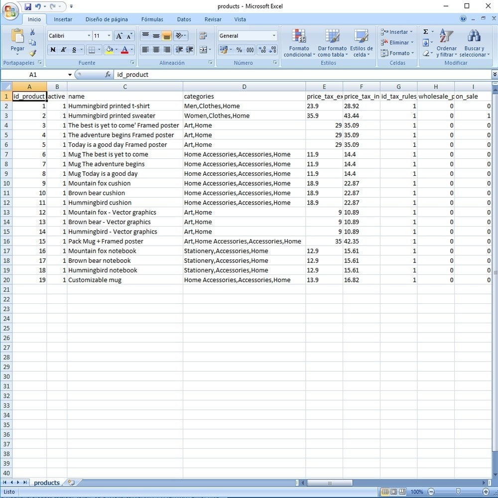 module - Marcas & Fabricantes - CSV Export Data Fields - 6